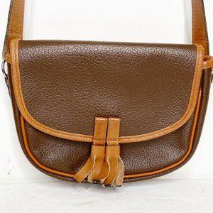 Vintage Holt Renfrew tan leather crossbody bag